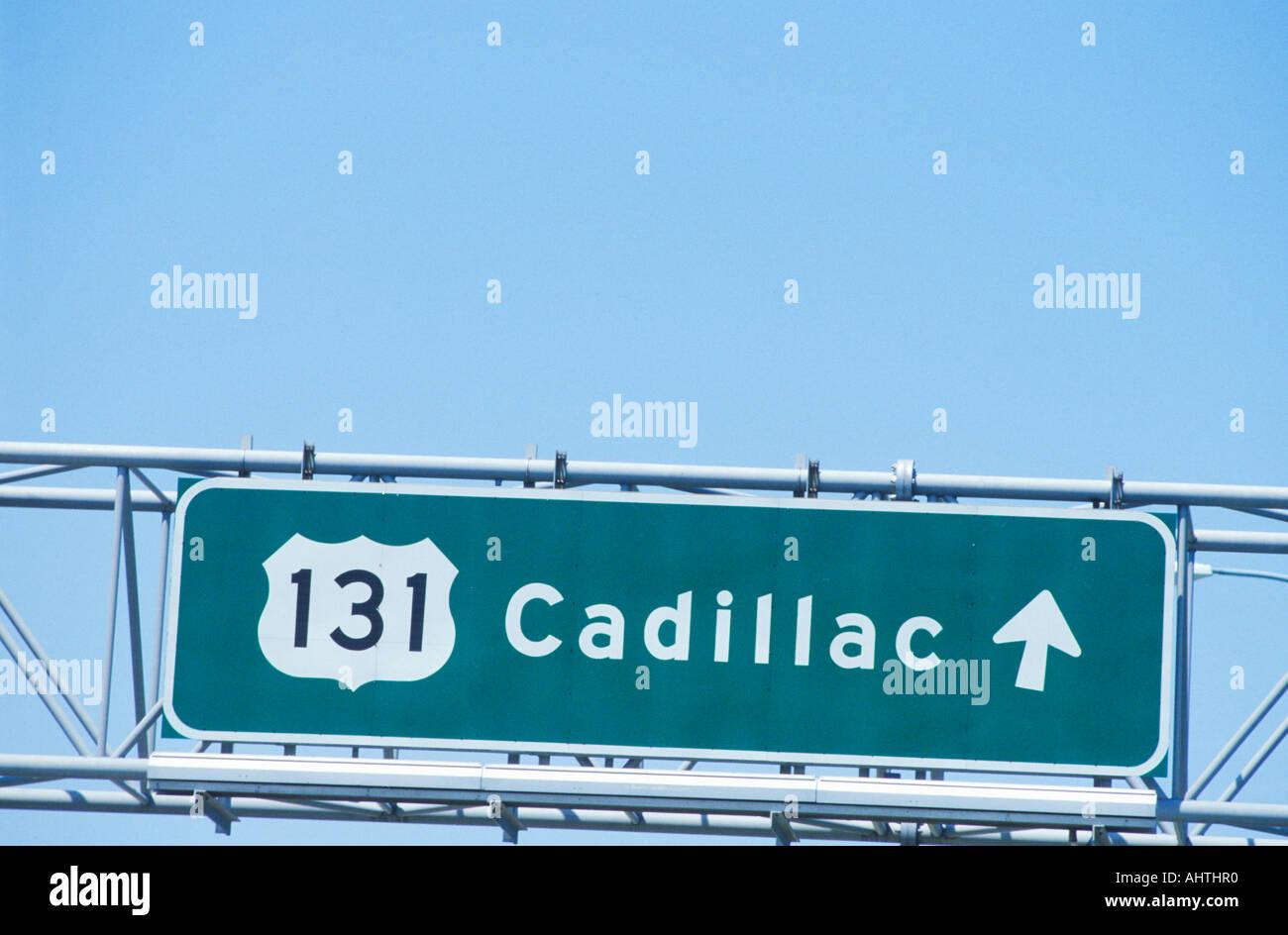Un panneau 131 Cadillac Photo Stock