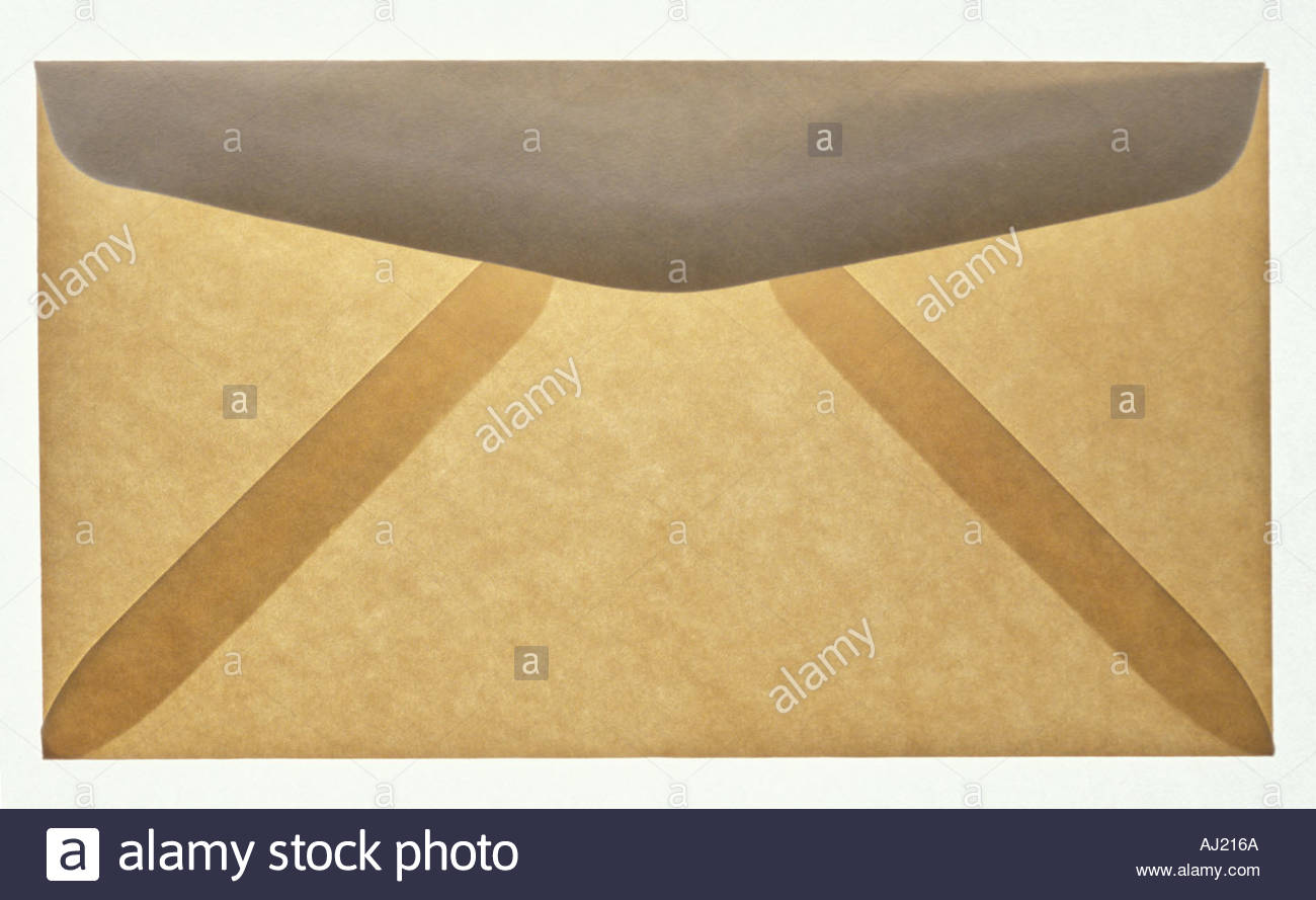 Enveloppe translucide gris et beige Photo Stock