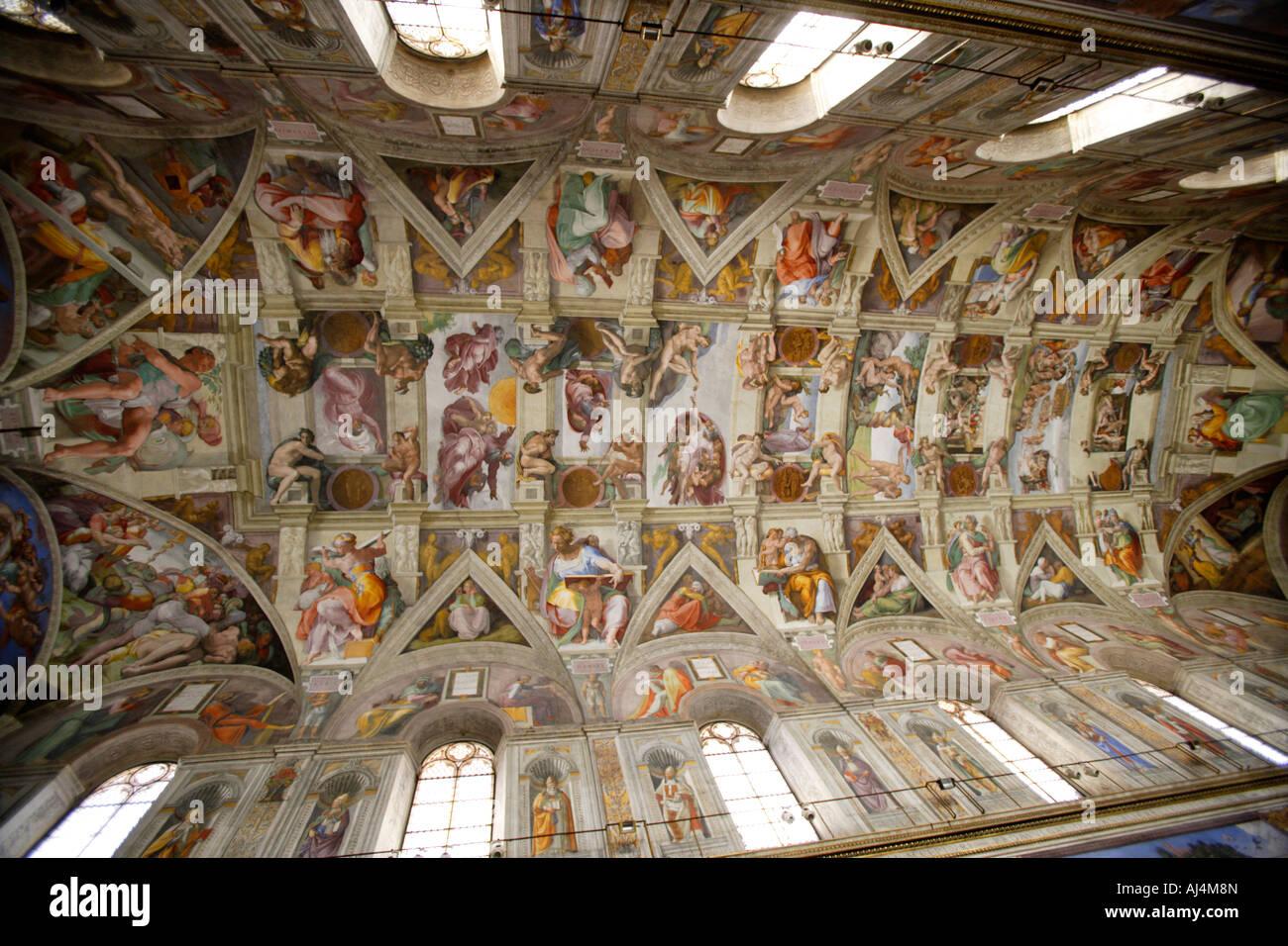 Plafond de la chapelle sixtine de michel ange le vatican rome banque d 39 images photo stock - Michel ange chapelle sixtine plafond ...