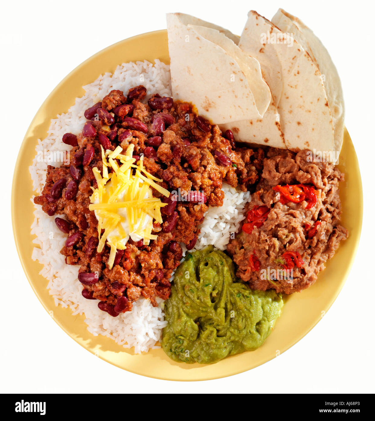 CHILII CON CARNE MEAL CUT OUT Photo Stock