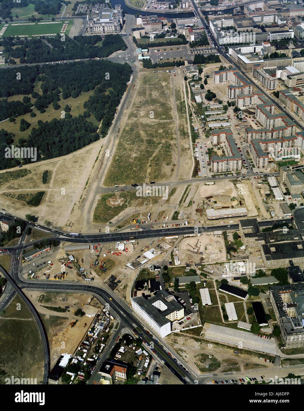Chute du Mur de Berlin - Stresemannstr., Potsdamer Platz, Ebertstr., Allemagne, Berlin Photo Stock