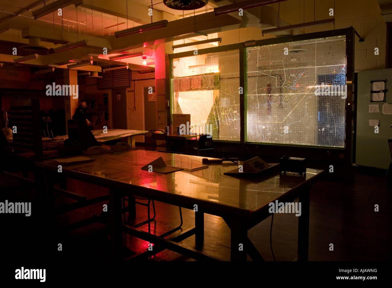 Centre de commande de rantere, maintenant ouverte au public. Photo Stock