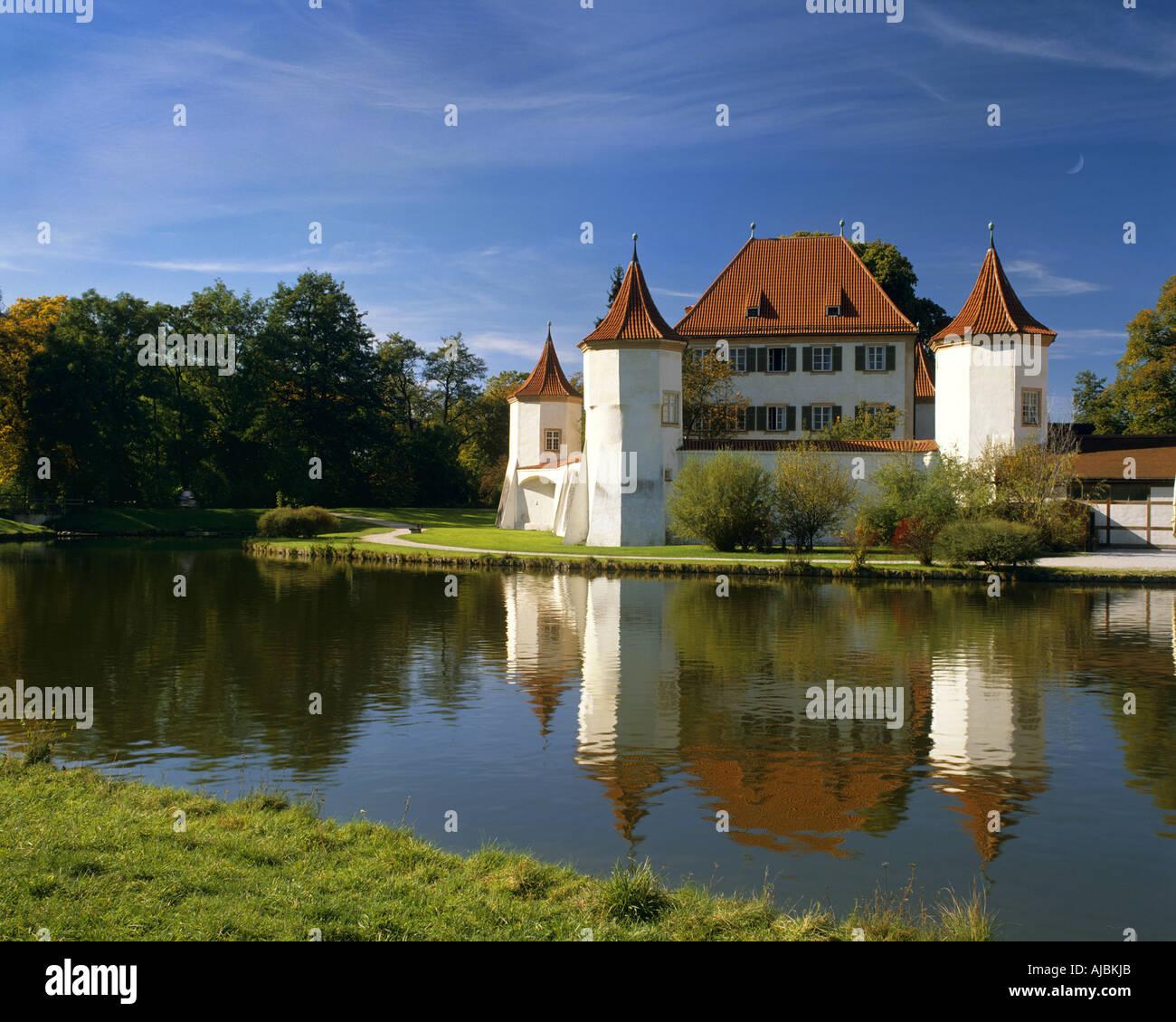 DE - La Bavière: Château Blutenburg à Munich Photo Stock