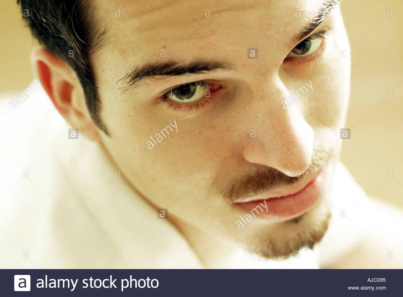 Homme à la recherche Photo Stock
