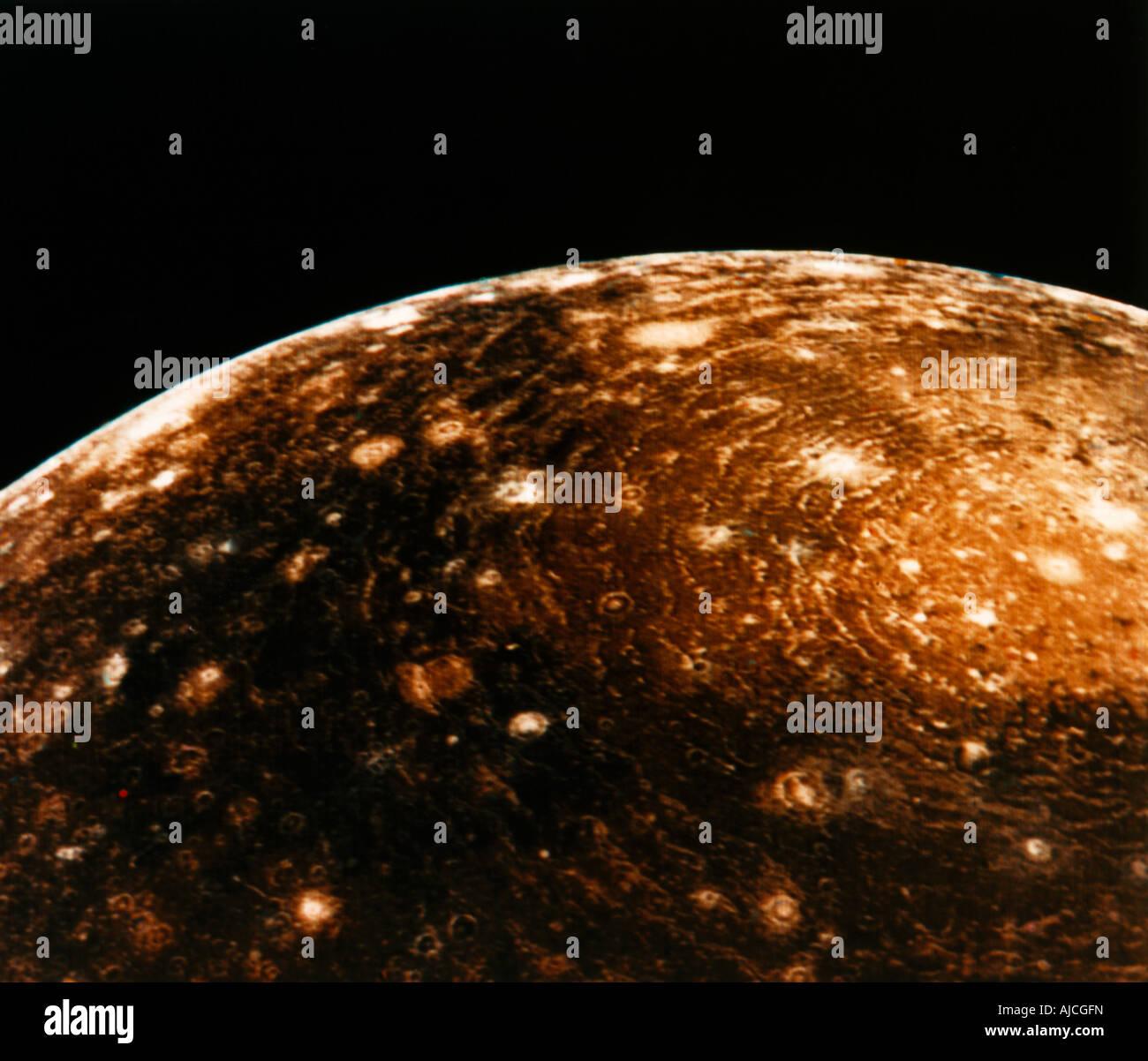 Callisto Jupiter les chaînes Photo Stock