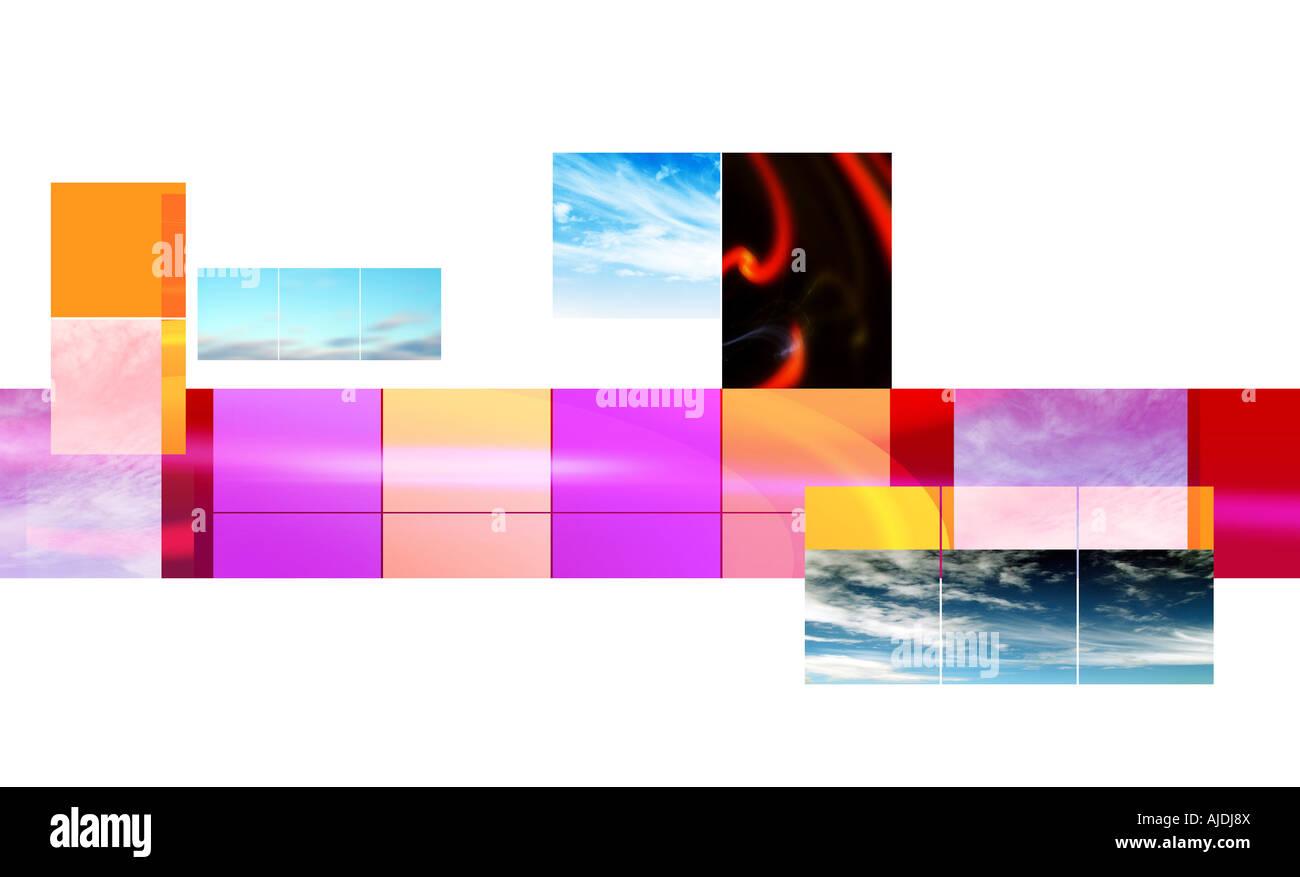 Collage de ciel Photo Stock