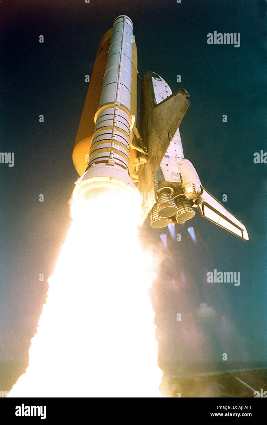 Lancement de la navette spatiale Photo Stock