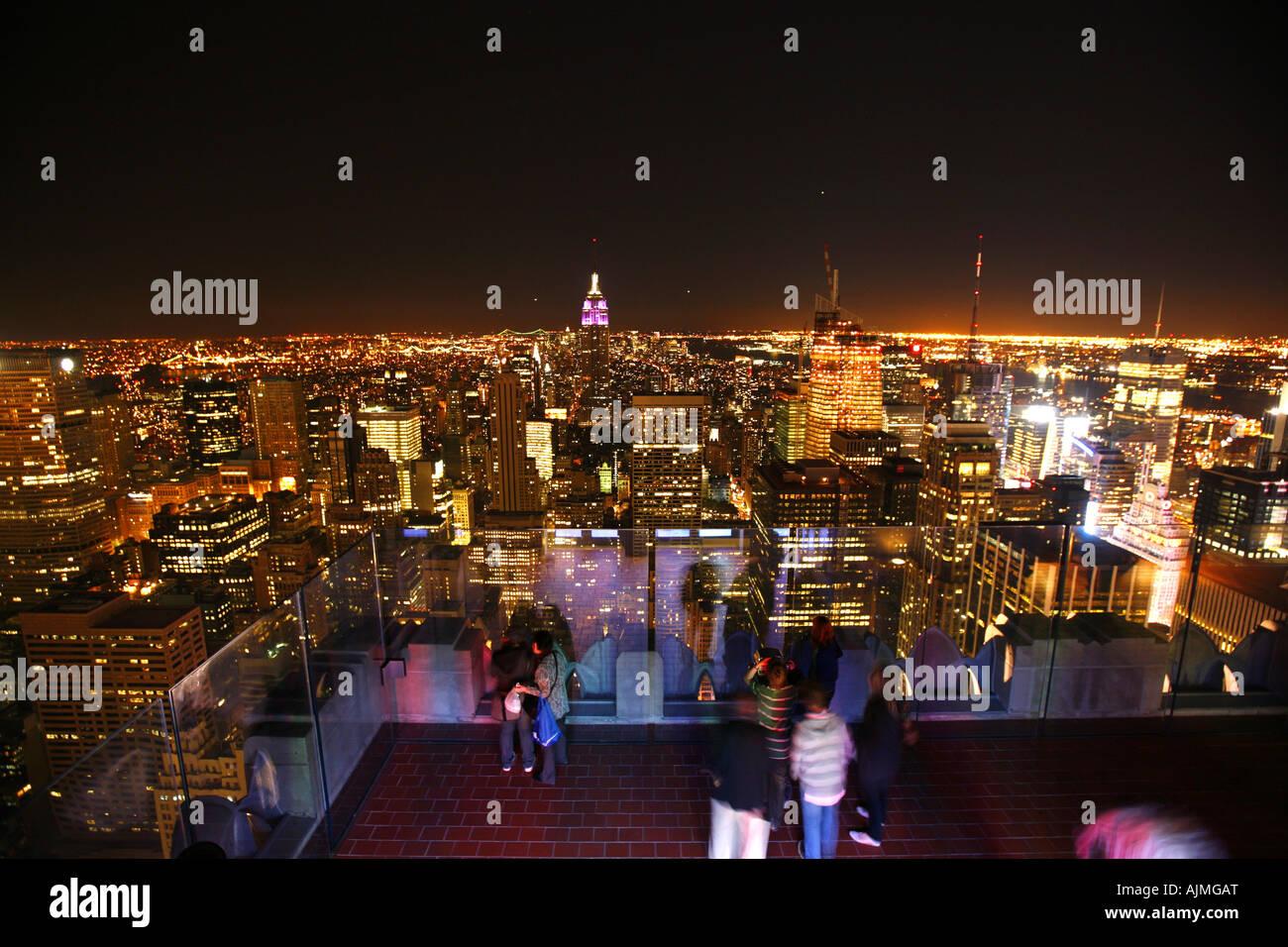 Vue de la ville de New York du haut du bâtiment Rockefeller Photo Stock