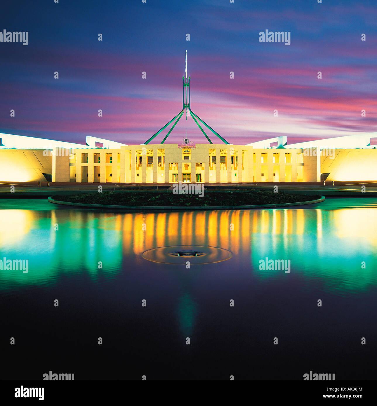 L'Australie. Canberra. Nouveau Parlement. Banque D'Images