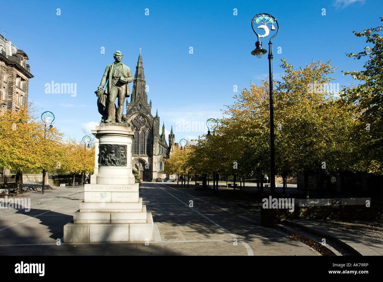 Glasgow Ecosse Europe David Livingstone memorial cité cathédrale Banque D'Images