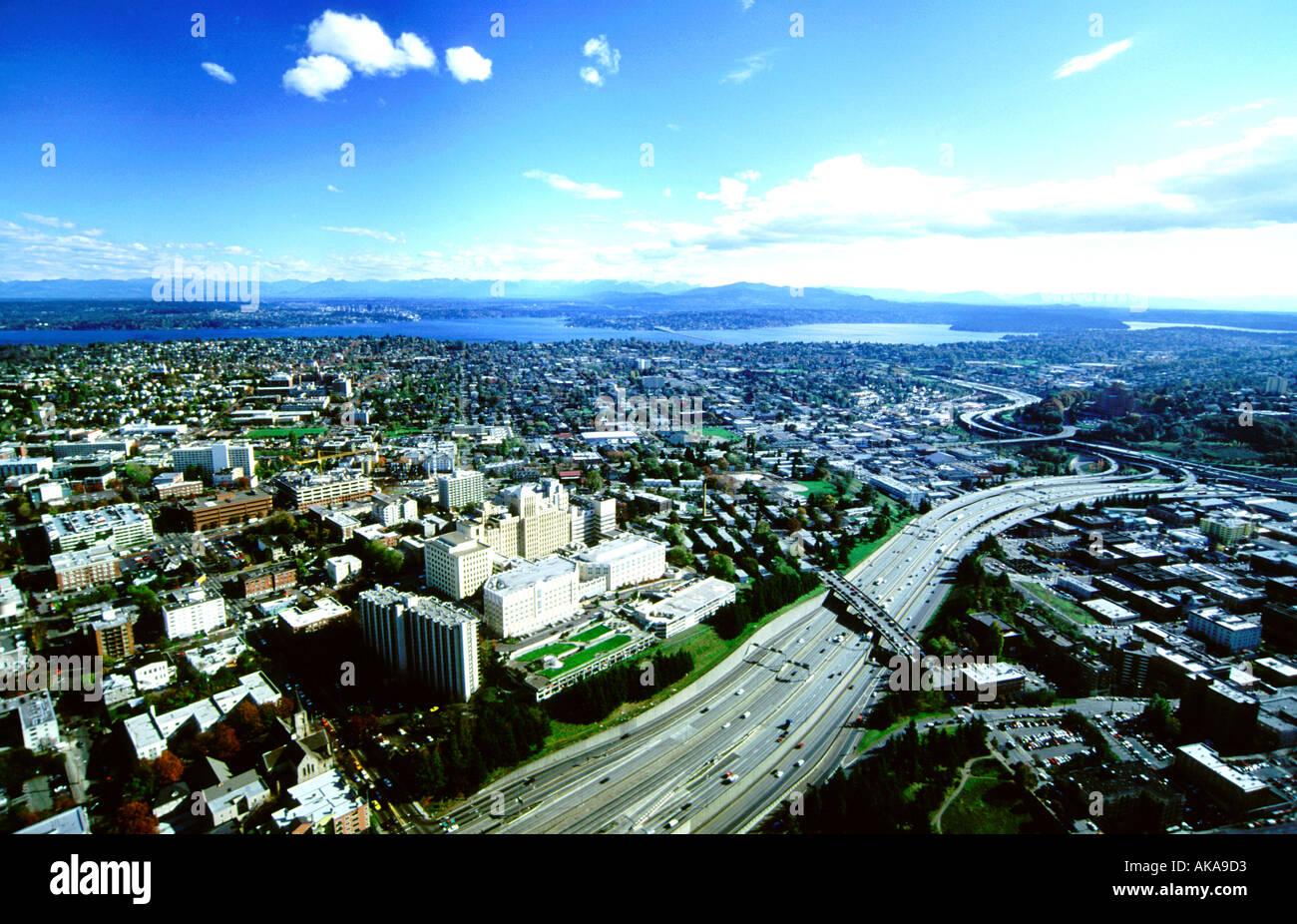 L'État de Washington Seattle..vue depuis Smith Tower Photo Stock