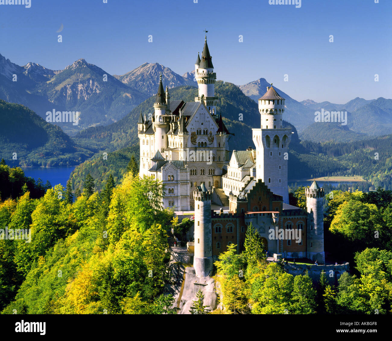 DE - La Bavière: Château de Neuschwanstein Photo Stock