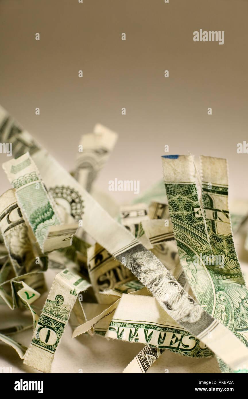 argent déchiré Photo Stock