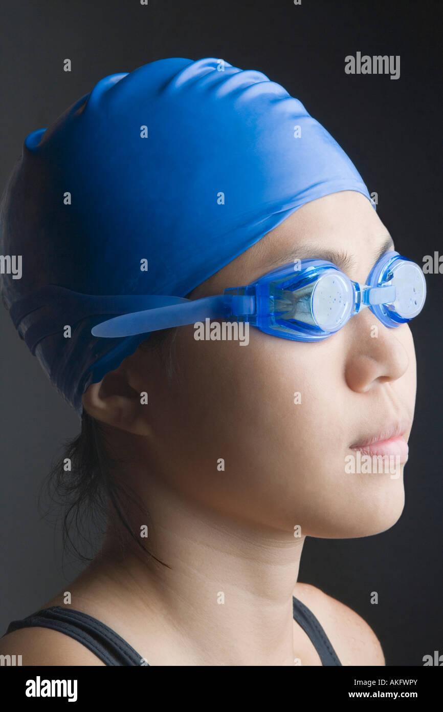 Portrait d'une jeune femme en maillot de bain Photo Stock