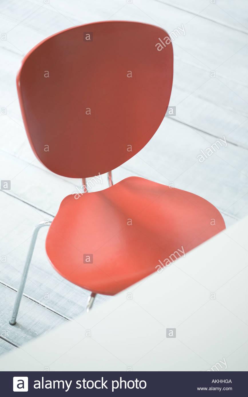 Chaise rouge élégant Photo Stock