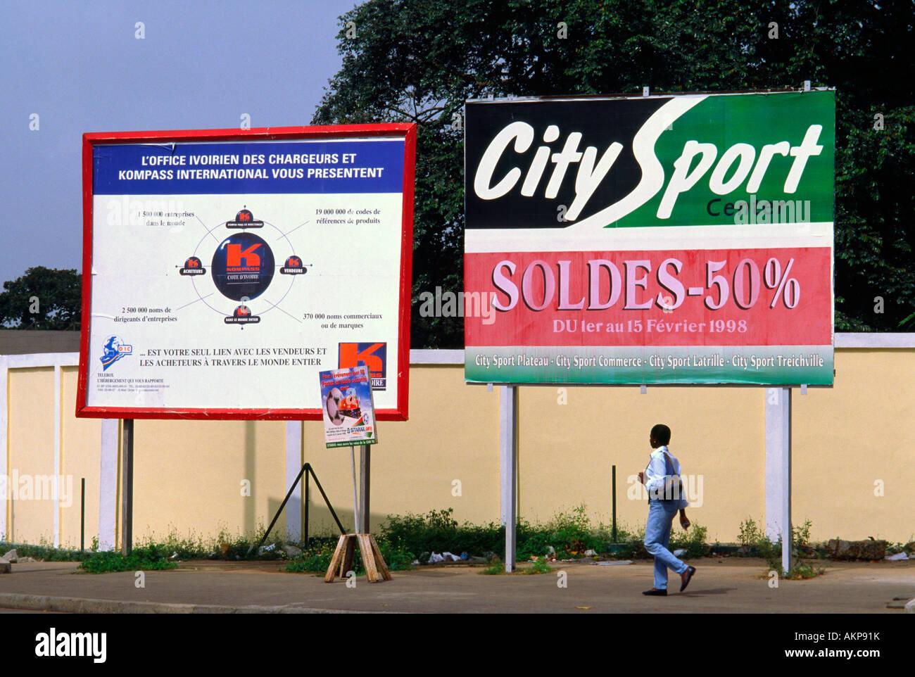 Les panneaux publicitaires Abidjan Côte d'Ivoire Banque D
