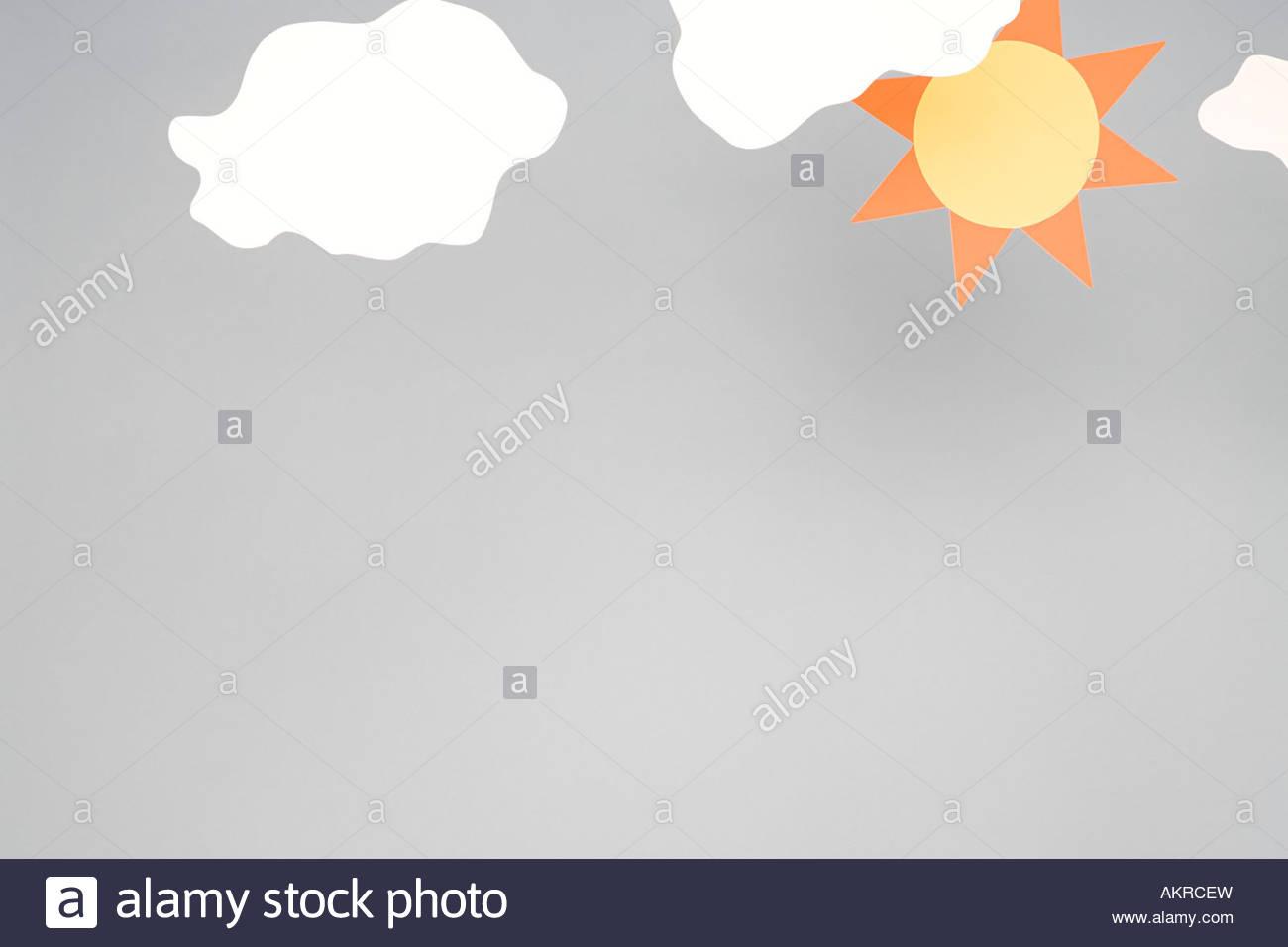 Soleil et nuage Photo Stock