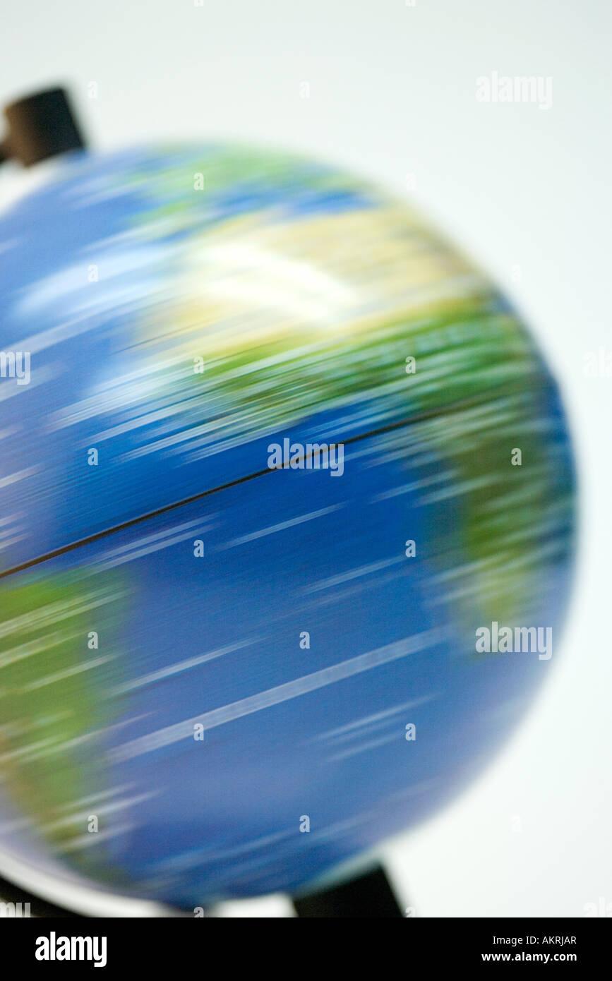 Spinning globe Photo Stock