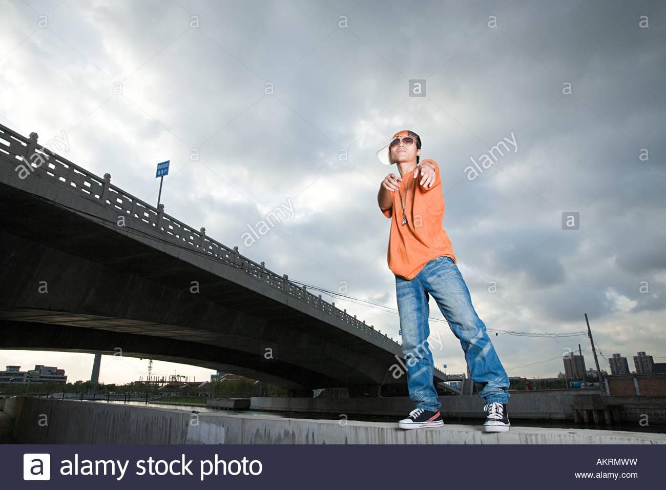 Cool jeune homme Photo Stock