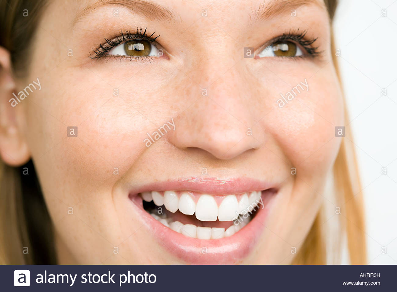 Portrait of a smiling woman Photo Stock