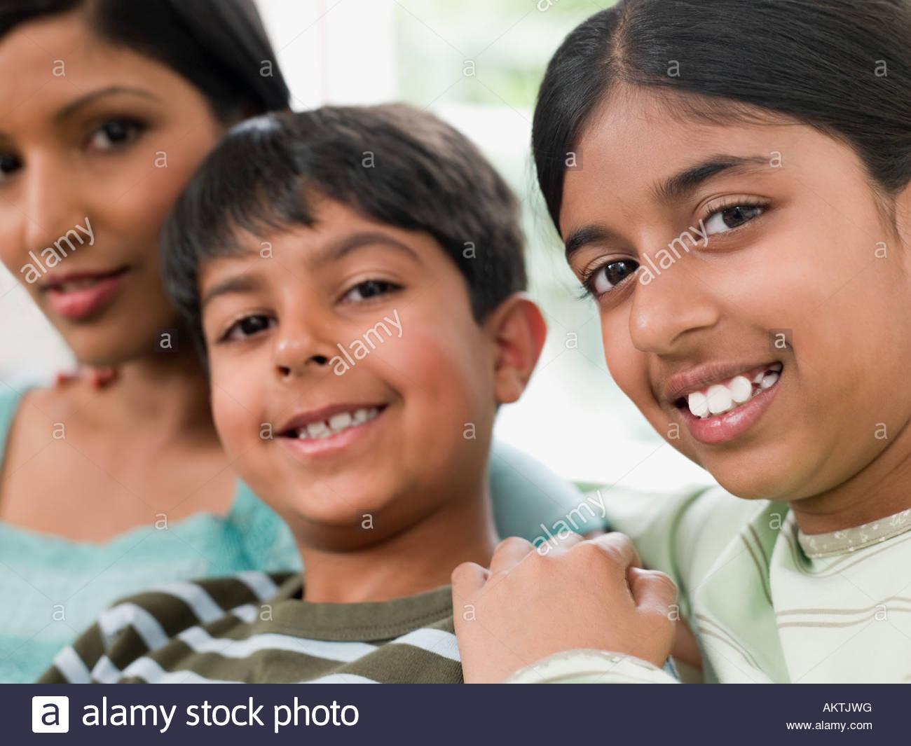 Mère et enfants Photo Stock