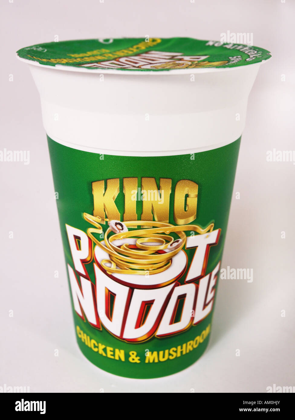 Pot Noodle noodle pot retro junk food Photo Stock