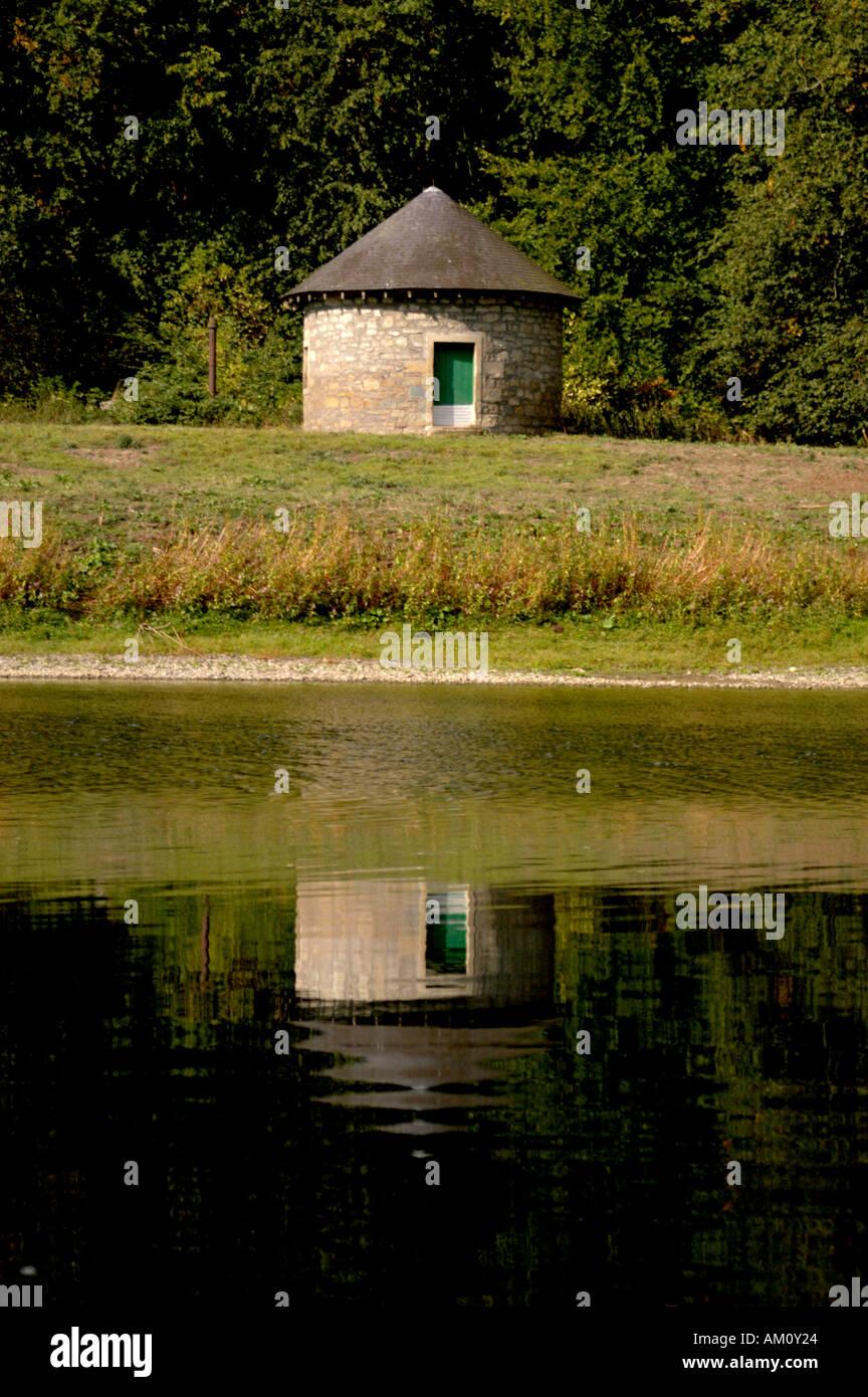 Peu Heugh Shiel sur la rivière Tweed ces petits bâtiments ont été jusqu'à récemment, Photo Stock