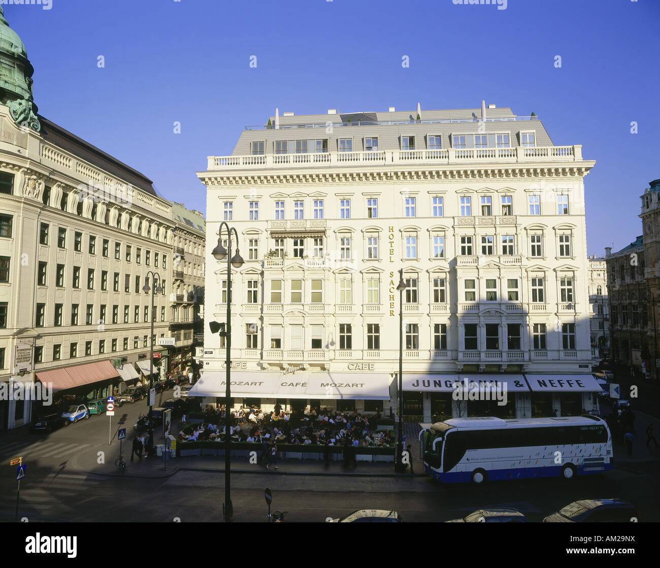 Géographie / voyage, Autriche, Vienne, la gastronomie, l'hôtel Sacher, vue extérieure, fondée: Photo Stock
