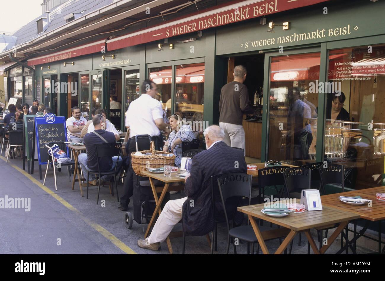 Géographie / voyage, Autriche, Vienne, gastronomie, ses terrasses de café 's'Wiener Naschmarkt Photo Stock
