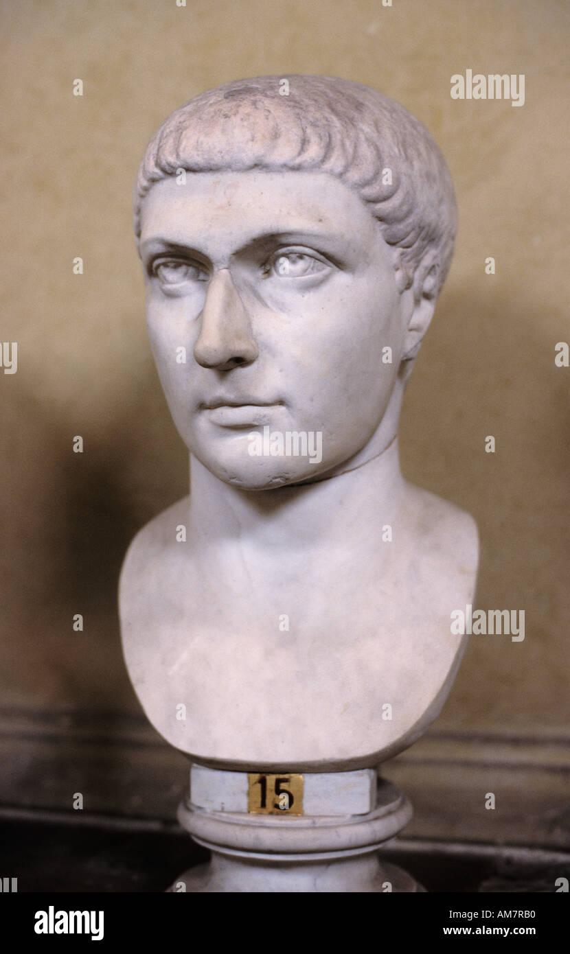 Consantine empereur romain Rome Italie italien 4 E C A D Banque D'Images