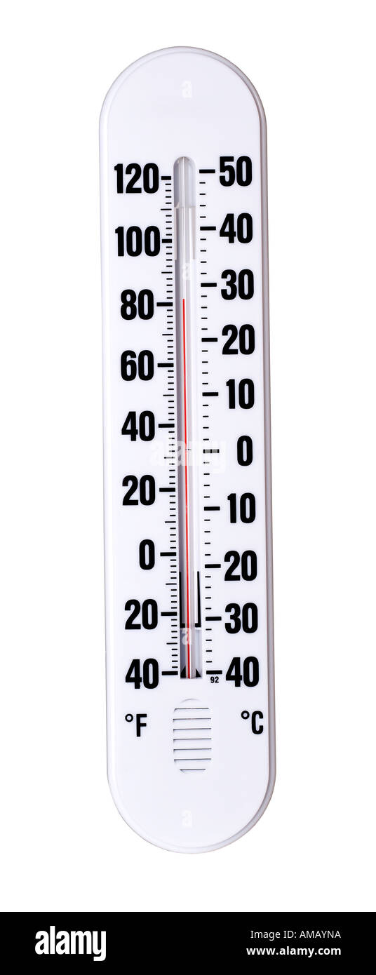 Chaud Froid Thermomtre Photo Stock