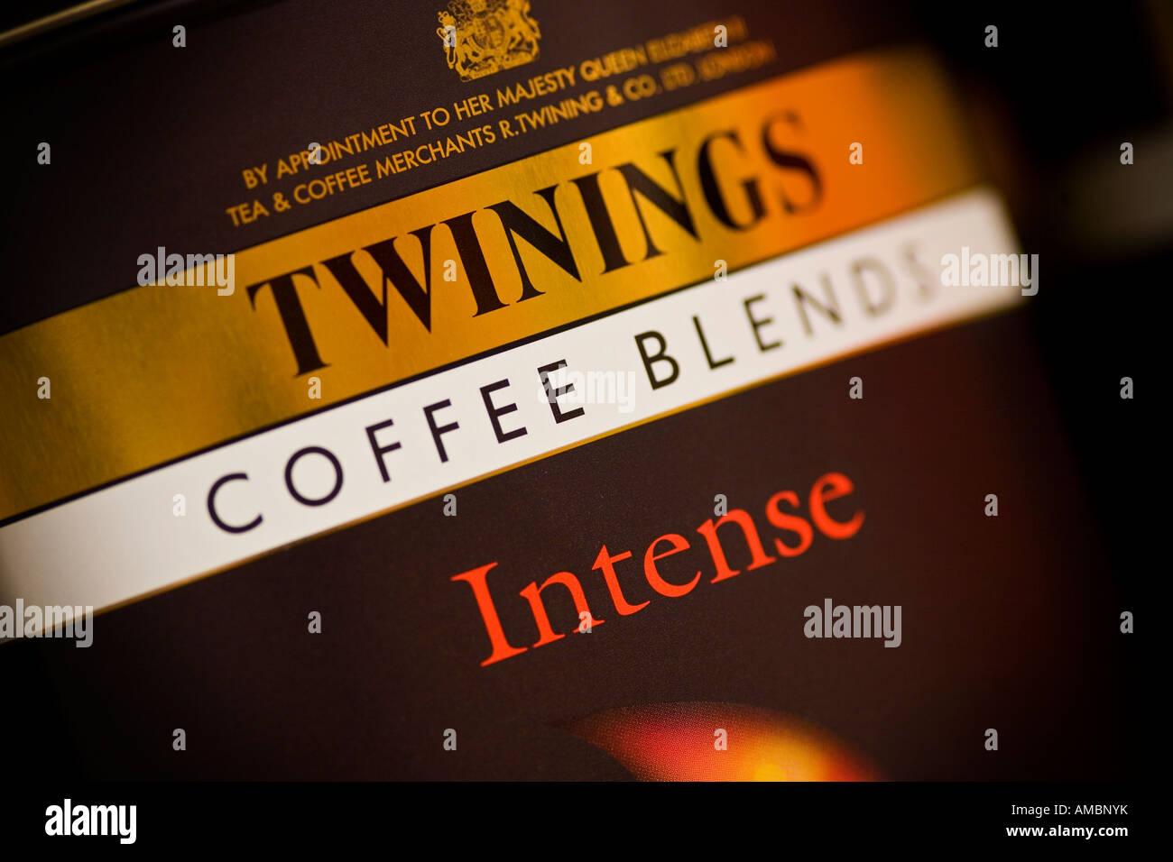 Des mélanges de café Intense Twinings Twinings est une marque Associated British Foods Photo Stock
