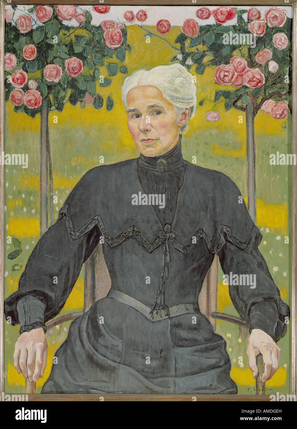 'Fine Arts, Hodler, Ferdinand, (1853 - 1918), peinture, 'Madame' d'Emme, propriété privée, Photo Stock