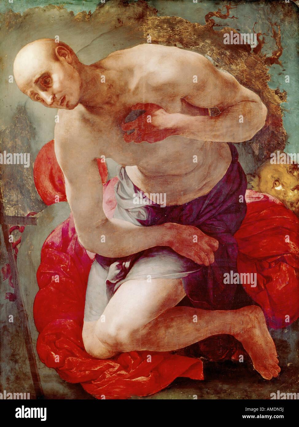 Beaux-arts, Pontormo, Jacopo, (25.5.1494 - 2.1.1557), peinture, 'Saint Jérôme comme pénitent', Photo Stock