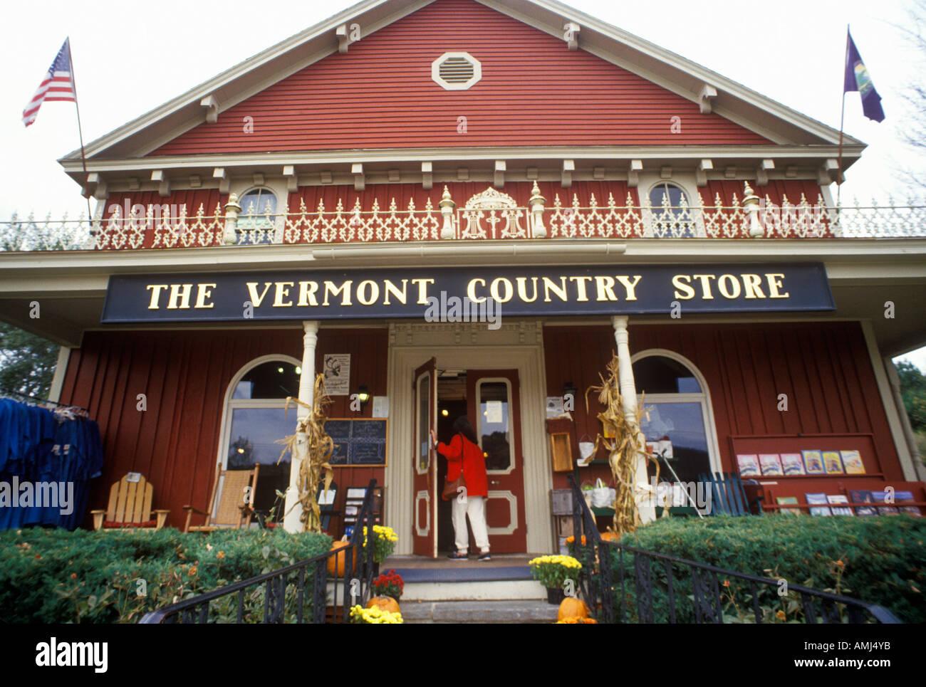 Porche du Vermont Country Store dans Rockingham VT Banque D'Images