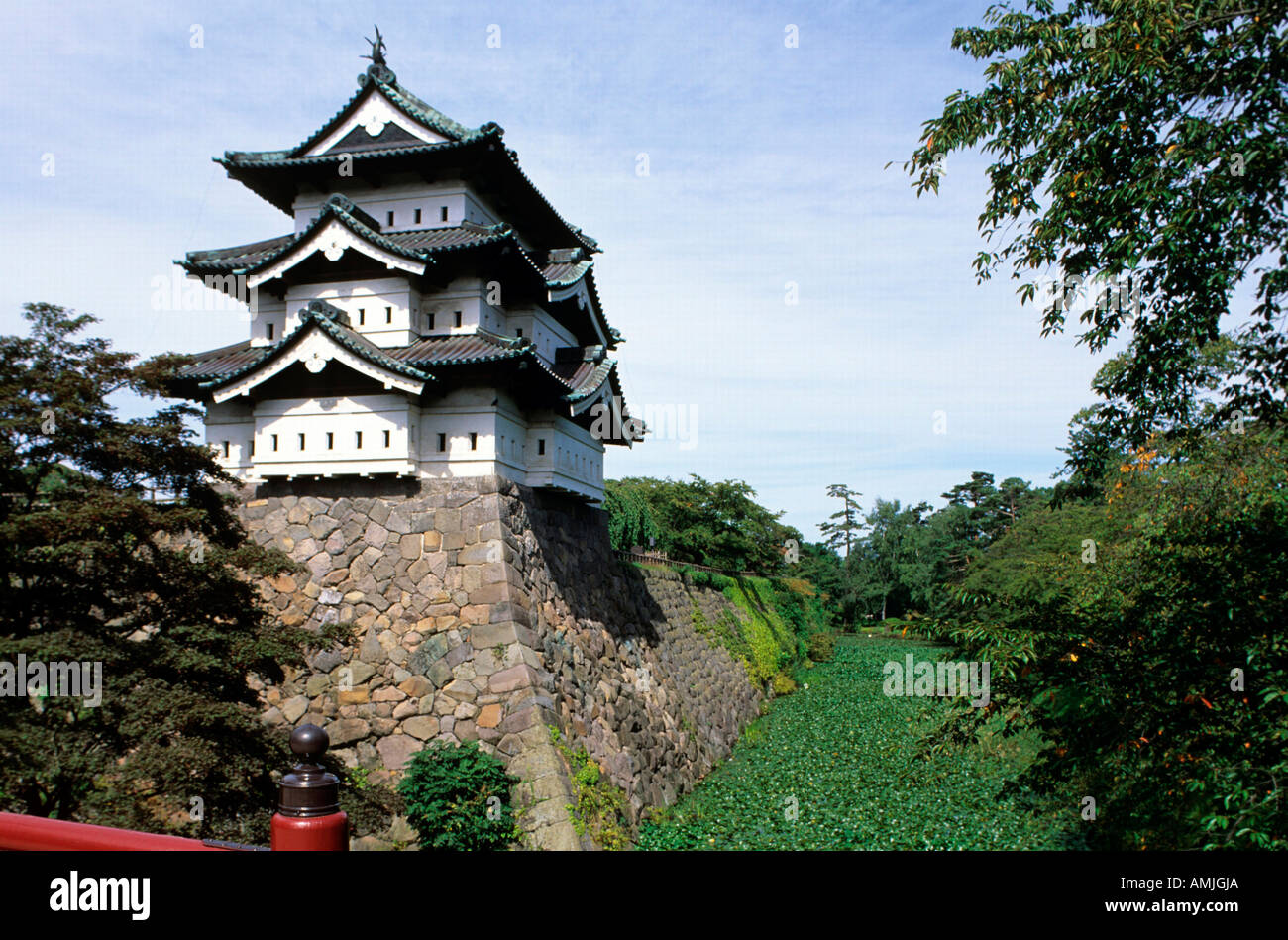 Le Japon, Tohoku, Hirosaki, Burg Photo Stock
