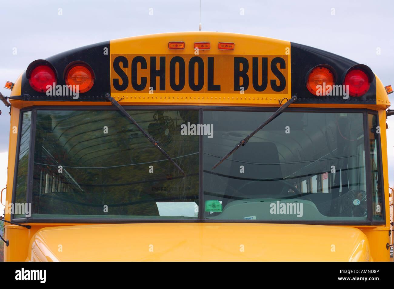 Autobus scolaire Banque D'Images