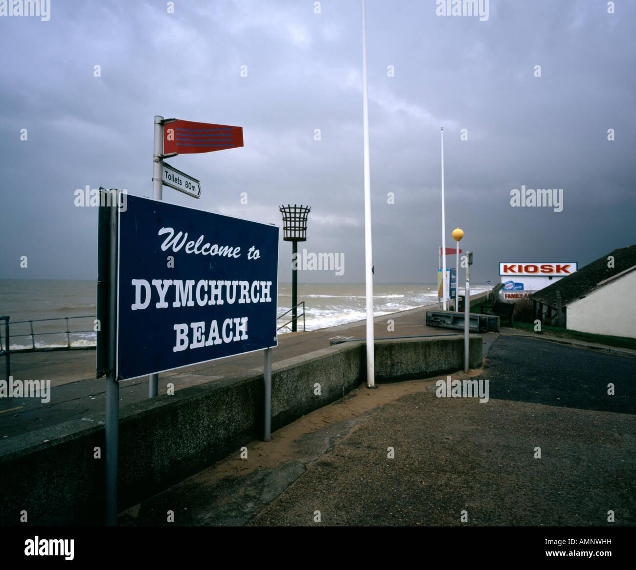 Plage de Dymchurch Kent England UK Photo Stock