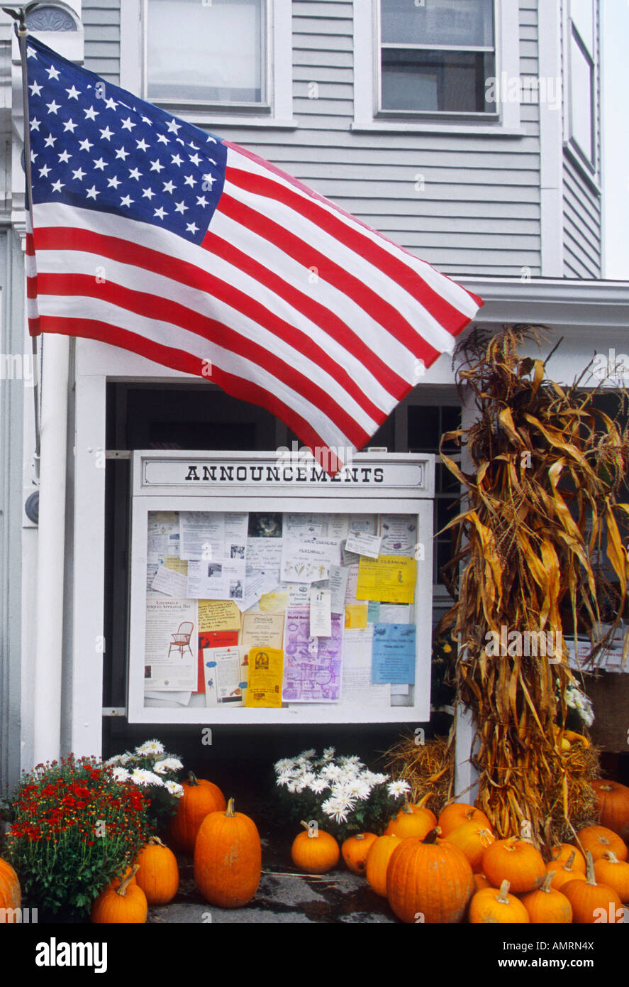 États-unis Connecticut Country Store en Nouvelle Angleterre drapeau américain Sandra Baker Banque D'Images