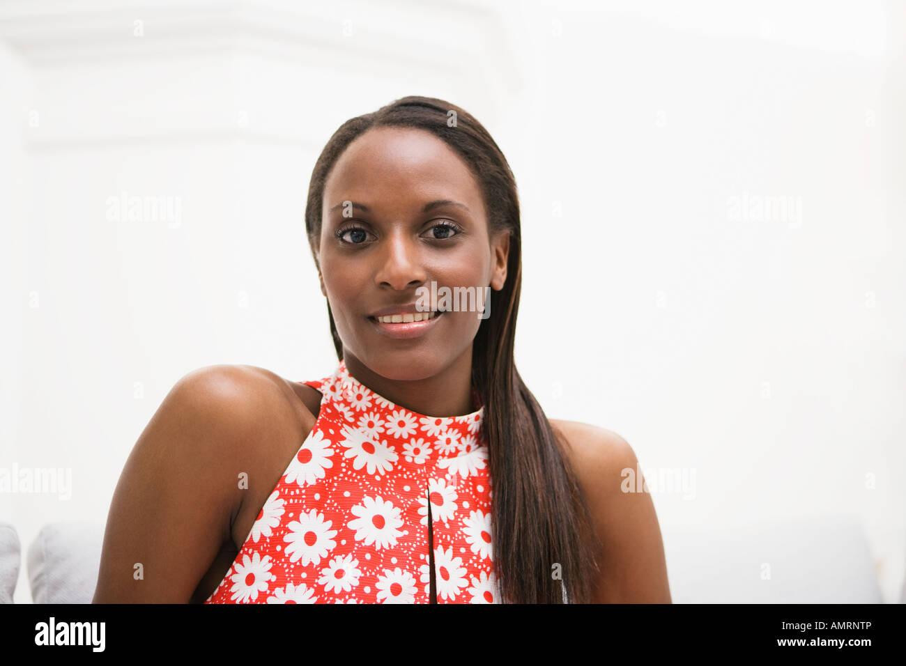 Portrait de femme africaine Banque D'Images