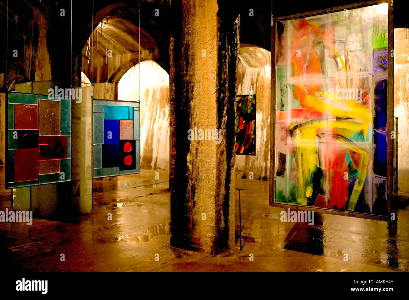 Cisternerne - Le Musée d'Art moderne en verre Photo Stock