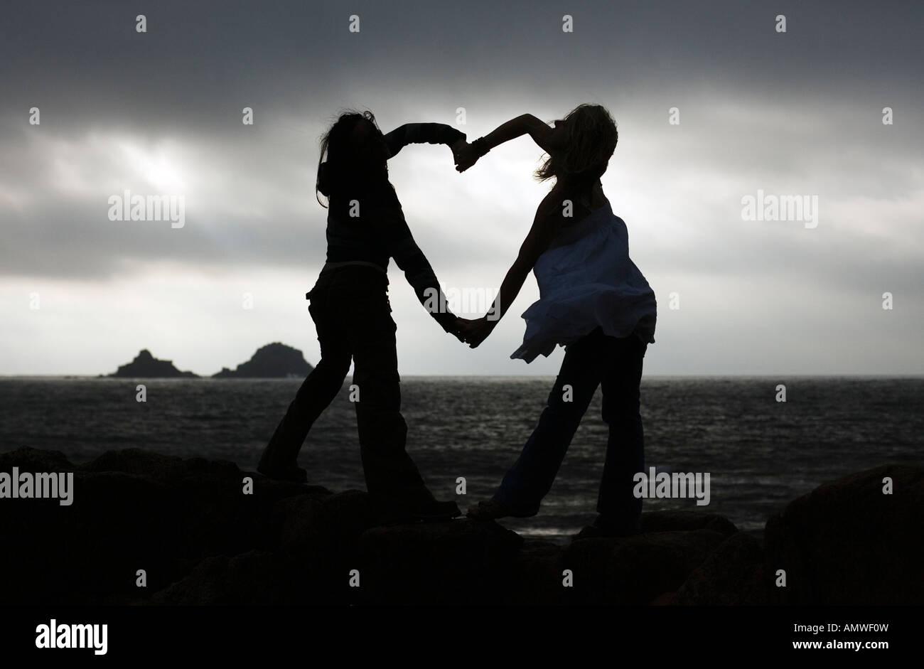 Amour,romantique,coeur,valentine,ensemble,people,le partage, Photo Stock