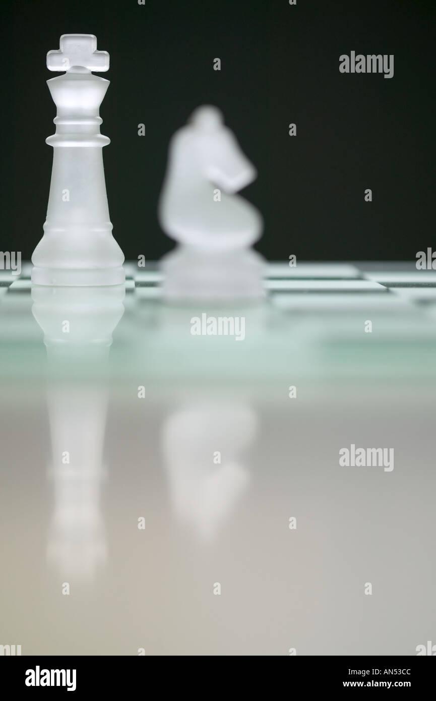 Pièces d'échecs Banque D'Images