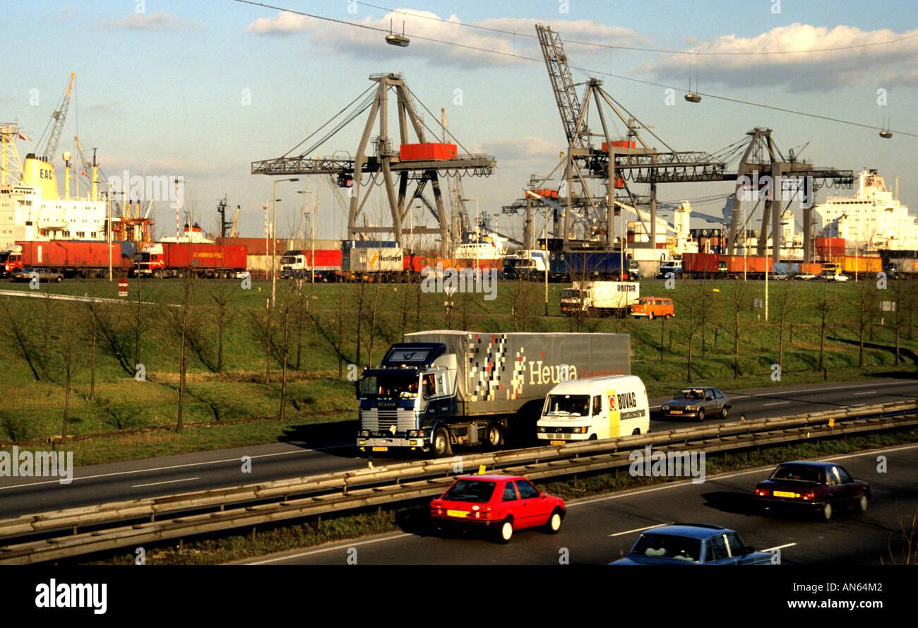Port Europoort Rotterdam Pays-Bas Hollande Banque D'Images