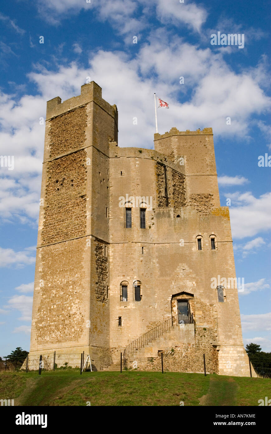 Ruines du château d'Orford, East Anglia Suffolk Angleterre HOMER SYKES Photo Stock