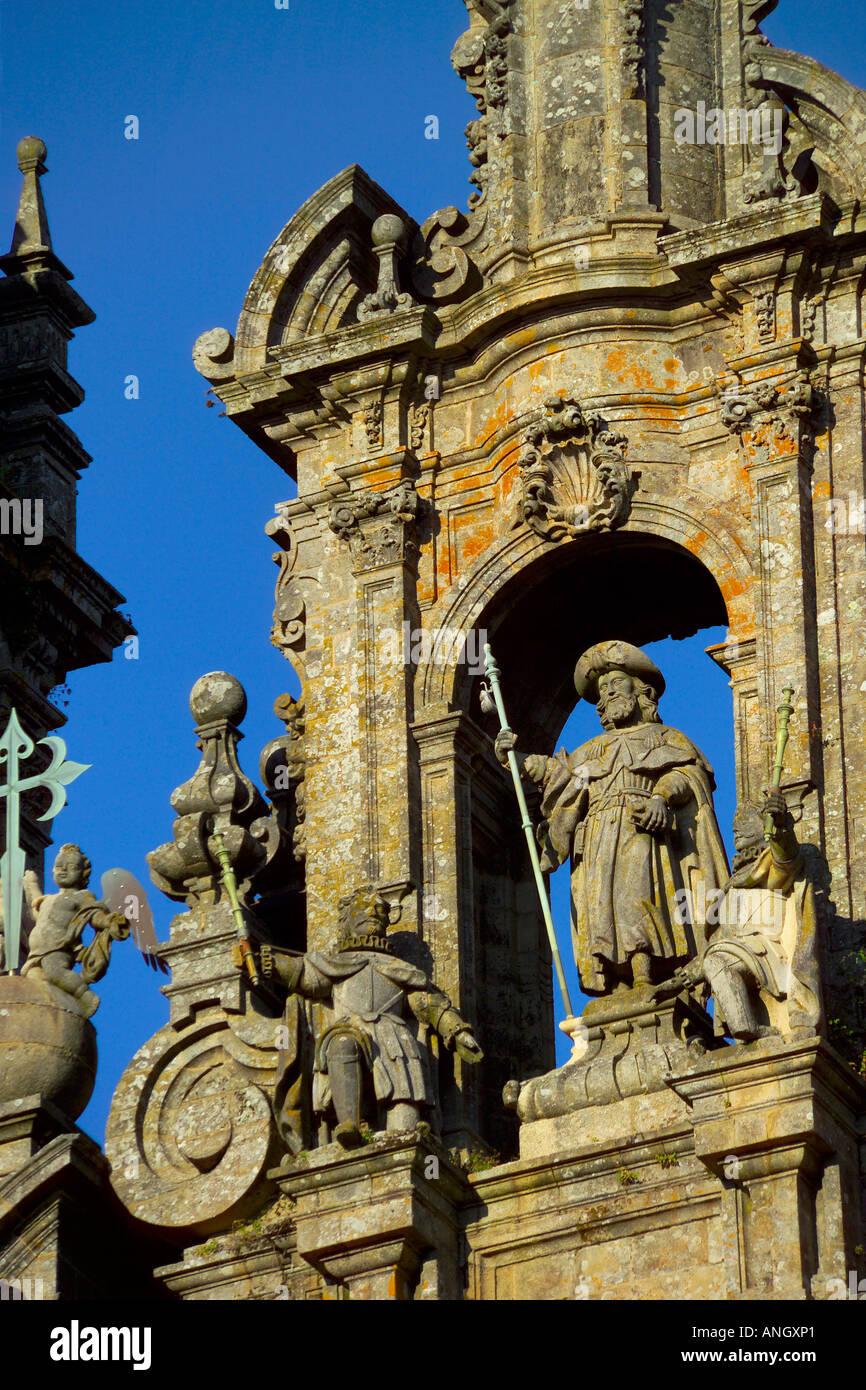 Cathédrale de Santiago de Compostela, Saint Jacques de Compostelle, Galice, Espagne Banque D'Images