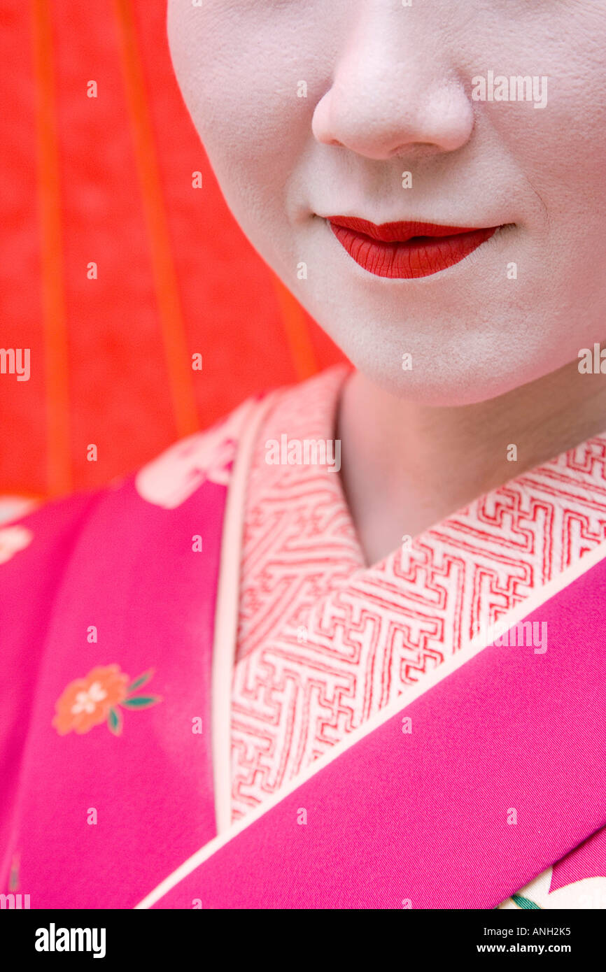 Geisha, Maruyama Koen, Kyoto, Japon Photo Stock
