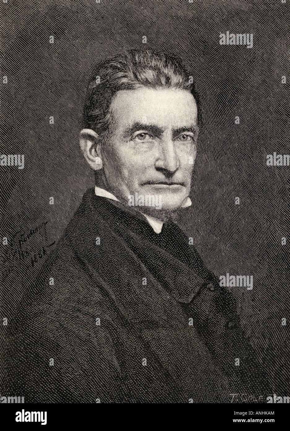 John Brown, 1800 - 1859. Abolitionniste américain blanc. Du livre The Century Illustrated Monthly Magazine, mai à octobre 1883. Banque D'Images