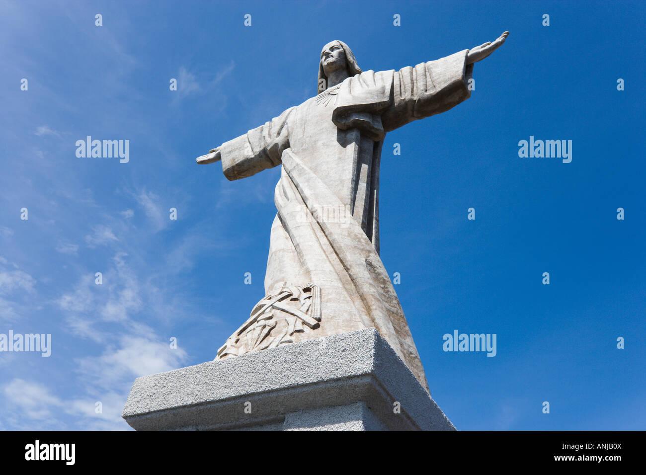 La Statue du Christ, près de Garajau Canico, Madère, Portugal Photo Stock