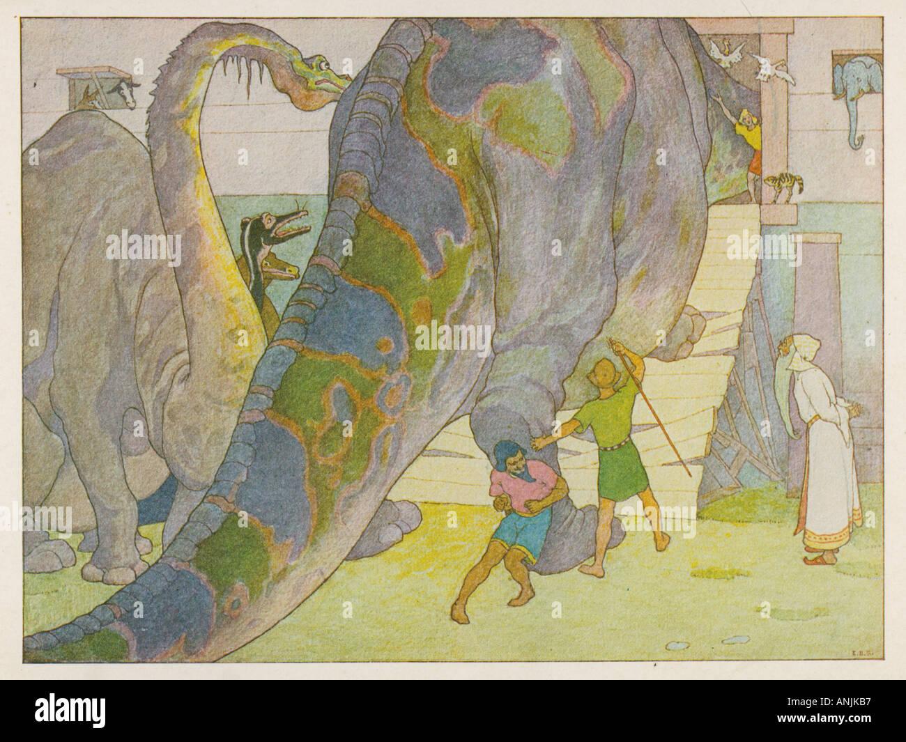 Les dinosaures Noahs Ark Banque D'Images